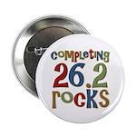 """Completing 26.2 Rocks Marathon Run 2.25"""" Button (1"""