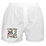 Completing 26.2 Rocks Marathon Run Boxer Shorts
