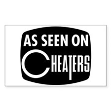 As Seen On Cheaters Rectangle Decal