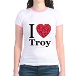 I Love Troy Jr. Ringer T-Shirt
