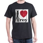 I Love Troy Dark T-Shirt