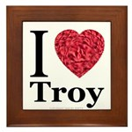 I Love Troy Framed Tile