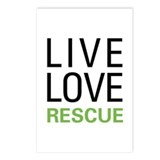 Live Love Rescue Postcards (Package of 8)