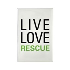 Live Love Rescue Rectangle Magnet