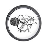 Microphone Fist Wall Clock