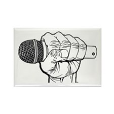 Microphone Fist Rectangle Magnet (10 pack)