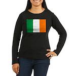 Ireland Women's Long Sleeve Dark T-Shirt