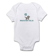 6 months old grey dog Infant Bodysuit