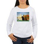 Sailboats / Dachshund Women's Long Sleeve T-Shirt