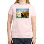 Sailboats / Dachshund Women's Light T-Shirt