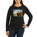 Sailboats / Dachshund Women's Long Sleeve Dark T-S