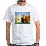 Sailboats / Dachshund White T-Shirt
