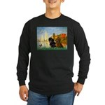 Sailboats / Dachshund Long Sleeve Dark T-Shirt