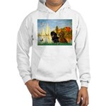 Sailboats / Dachshund Hooded Sweatshirt