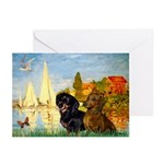 Sailboats / Dachshund Greeting Cards (Pk of 10)