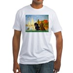 Sailboats / Dachshund Fitted T-Shirt