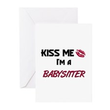 Kiss Me I'm a BABYSITTER Greeting Cards (Pk of 10)