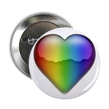"Rainbow Heart 2 2.25"" Button (100 pack)"
