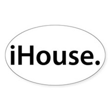 iHouse. Oval Decal
