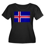 Iceland Women's Plus Size Scoop Neck Dark T-Shirt