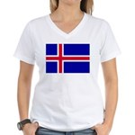 Iceland Women's V-Neck T-Shirt