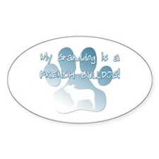 French Bulldog Granddog Oval Decal