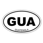 Guatemala Oval Sticker