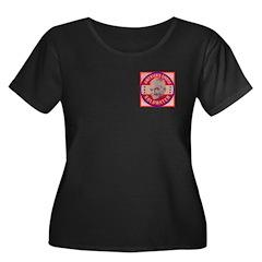 Goldwater-1 Women's Plus Size Scoop Neck Dark T-Sh