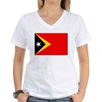 East Timor Women's V-Neck T-Shirt