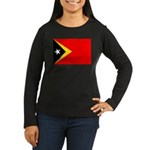 East Timor Women's Long Sleeve Dark T-Shirt