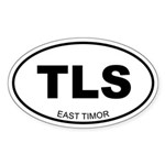 East Timor Oval Sticker