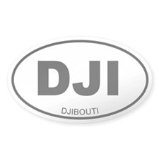 Djibouti Oval Decal
