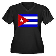 Cuba Women's Plus Size V-Neck Dark T-Shirt