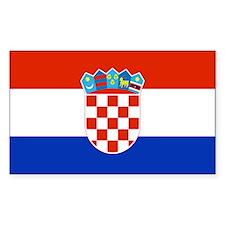 Croatia Rectangle Decal
