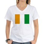 Cote d' Ivoire Women's V-Neck T-Shirt