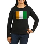 Cote d' Ivoire Women's Long Sleeve Dark T-Shirt