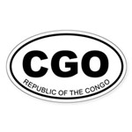 Republic of the Congo Oval Sticker