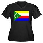 Comoros Women's Plus Size V-Neck Dark T-Shirt