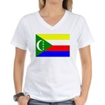 Comoros Women's V-Neck T-Shirt