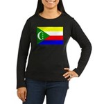 Comoros Women's Long Sleeve Dark T-Shirt