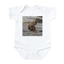 snow monkey 2 Infant Bodysuit