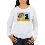Sunflowers / Lab Women's Long Sleeve T-Shirt