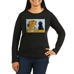Sunflowers / Lab Women's Long Sleeve Dark T-Shirt
