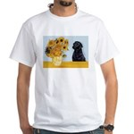 Sunflowers / Lab White T-Shirt