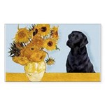 Sunflowers / Lab Sticker (Rectangle)