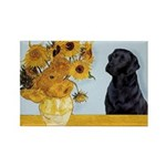 Sunflowers / Lab Rectangle Magnet (10 pack)