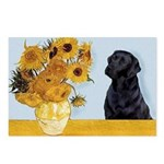 Sunflowers / Lab Postcards (Package of 8)