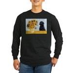 Sunflowers / Lab Long Sleeve Dark T-Shirt