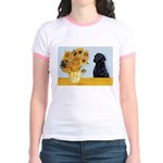 Sunflowers / Lab Jr. Ringer T-Shirt