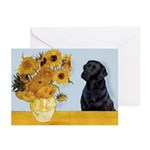 Sunflowers / Lab Greeting Cards (Pk of 20)